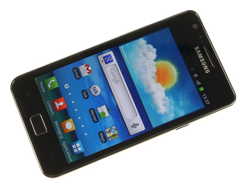 Galaxy S II forfra