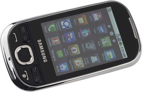 Samsung Galaxy 5 android mobil liggende
