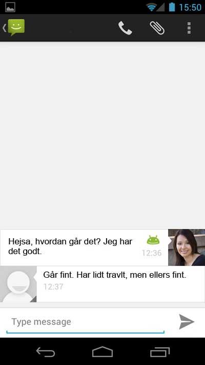Beskeder på Galaxy Nexus
