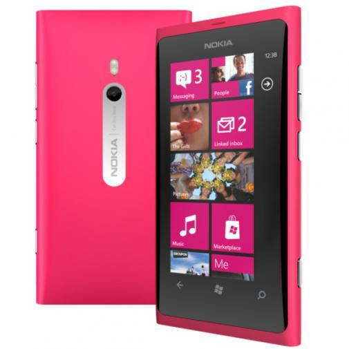 Pink Nokia Lumia 800