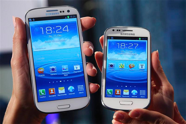 Sammenligning mellem Galaxy S3 og Miniudgaven.