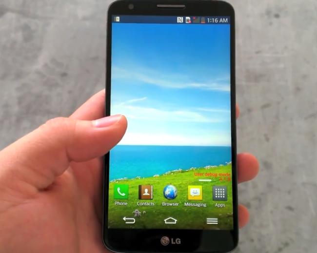 Lækkert display på LG G2