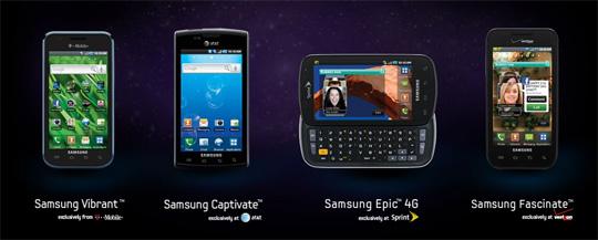 Galaxy S lineup