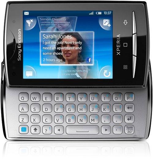 Forside Sony E X10 Mini pro