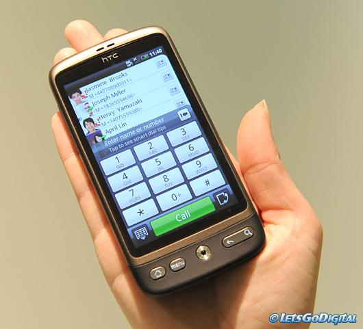 HTC Desire - store knapper