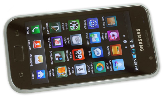 Skærmen på Samsung Galaxy S er fremragende