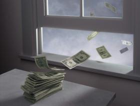 Penge ud af vinduet