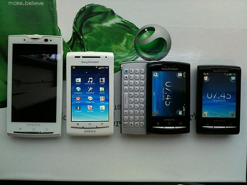 Sammenligning mellem Sony Ericsson XPERIA X10, X8, X10 Mini og X10 Mini Pro