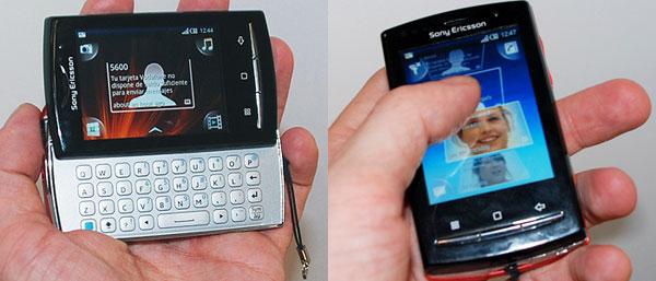 Se hvordan Sony Ericsson X10 mini pro ligger i hånden